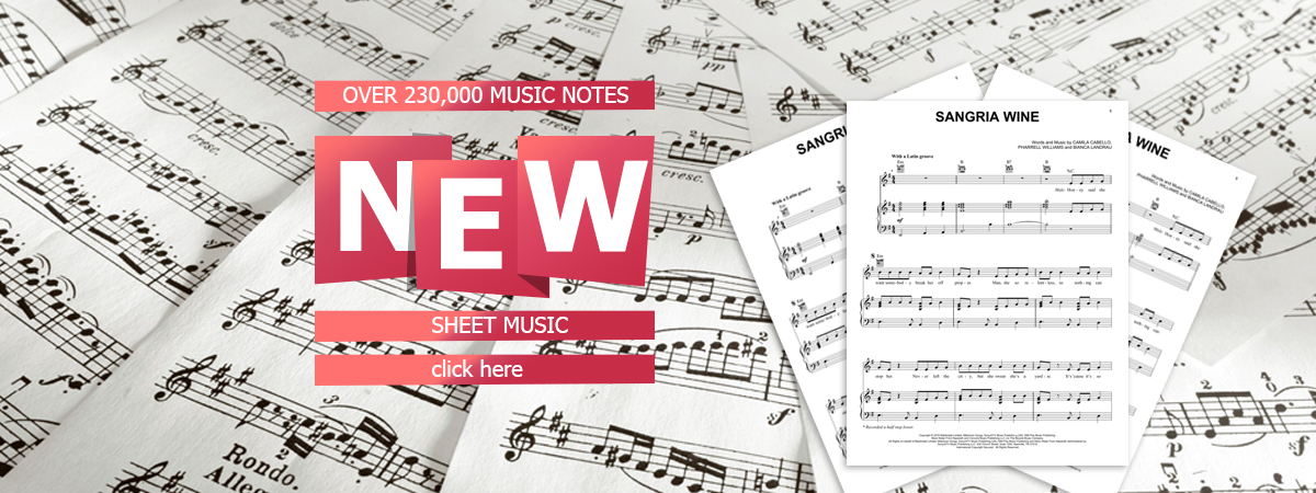 Sheet Music, Piano Notes, Guitar Chords
